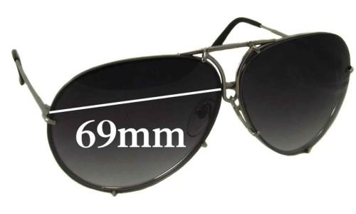 Sunglass Fix Sunglass Replacement Lenses for Porsche Design P 8478 - 69mm Wide