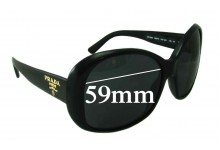 Sunglass Fix Sunglass Replacement Lenses for Prada SPR03M - 59mm Wide