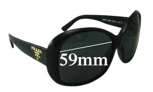 Sunglass Fix Sunglass Replacement Lenses for Prada SPR03M - 59mm lens