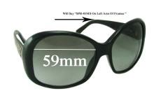 Sunglass Fix Sunglass Replacement Lenses for Prada SPR03MS - 59mm Wide