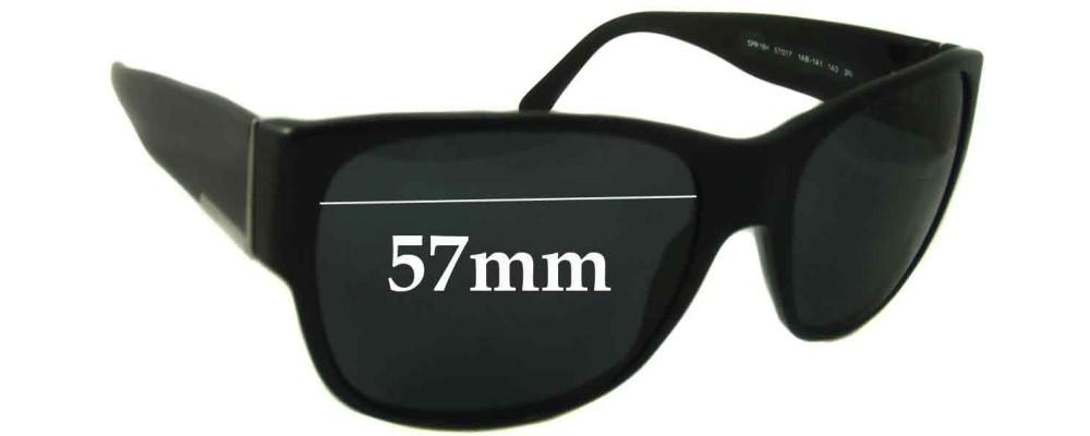 Sunglass Fix Sunglass Replacement Lenses for Prada SPR18H - 57mm Wide