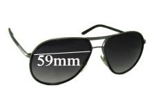 Sunglass Fix Sunglass Replacement Lenses for Prada SPR56M - 59mm Wide