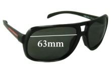 Sunglass Fix Sunglass Replacement Lenses for Prada SPS06L - 63mm Wide
