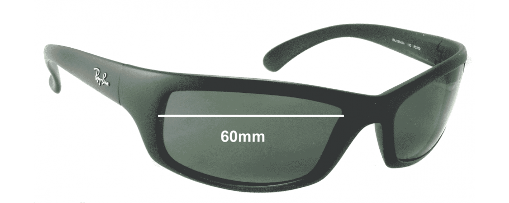 36b67f11e98 Ray Ban RAJ1554 Sunglass Replacement Lenses - 60mm wide  Please measure  your lens as size is not indicated on frames