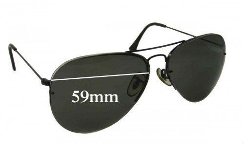 Sunglass Fix Sunglass Replacement Lenses for Ray Ban RB3450 - 59mm Wide