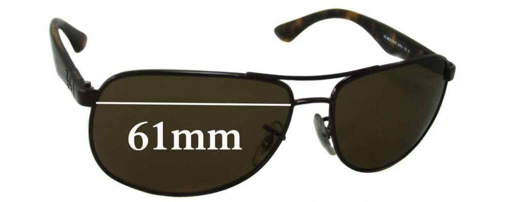 ray ban sun  Ban RB3502 Sunglass Replacement Lenses - 61mm wide