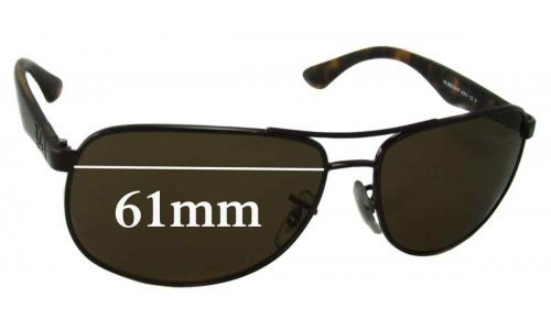 Sunglass Fix Sunglass Replacement Lenses for Ray Ban RB3502 - 61mm wide