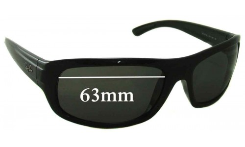 Sunglass Fix Sunglass Replacement Lenses for Ray Ban RB4166 - 63mm Wide
