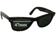 Sunglass Fix Sunglass Replacement Lenses for Ray Ban Wayfarer RB2140 - 47mm Wide