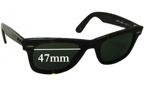 Sunglass Fix Sunglass Replacement Lenses for Ray Ban RB2140 Wayfarer 47mm Wide