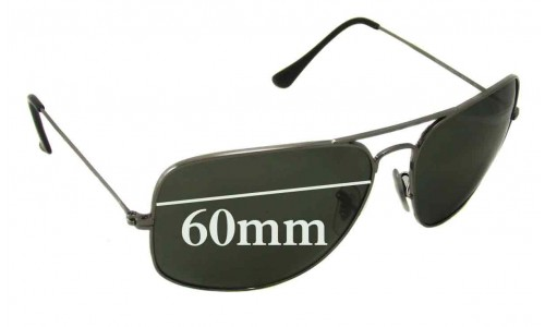 Sunglass Fix Sunglass Replacement Lenses for Ray Ban RB3363 - 60mm Wide