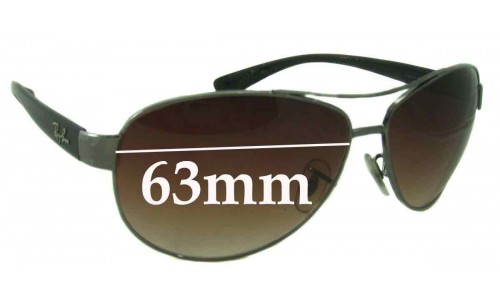 Sunglass Fix Sunglass Replacement Lenses for Ray Ban RB3386 - 63mm wide