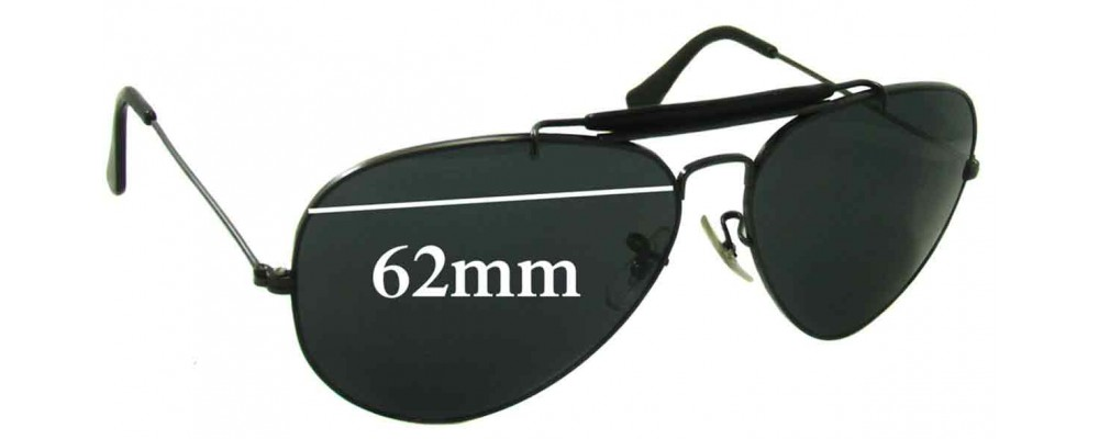 Sunglass Fix Sunglass Replacement Lenses for Ray Ban B&L RB3407 Aviator - 62mm Wide