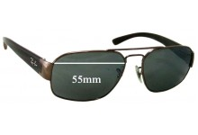 Sunglass Fix Sunglass Replacement Lenses for Ray Ban RB3427 - 55mm Wide