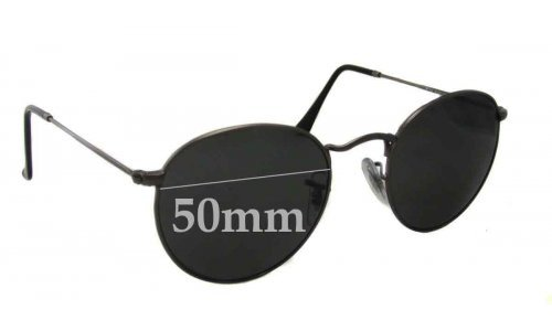 Sunglass Fix Sunglass Replacement Lenses for Ray Ban RB3447 Round Metal - 50mm Wide x 47mm Tall