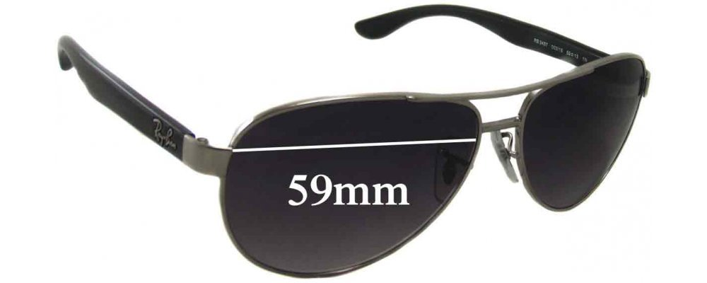 Sunglass Fix Sunglass Replacement Lenses for Ray Ban RB3457 - 59mm Wide