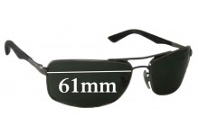 Sunglass Fix Sunglass Replacement Lenses for Ray Ban RB3465 - 61mm Wide