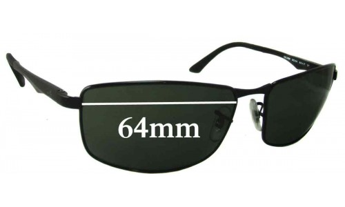 Sunglass Fix Sunglass Replacement Lenses for Ray Ban RB3498 - 64mm Wide