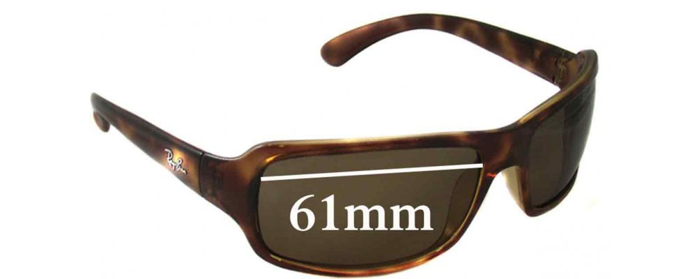 864f3c57a1 Ray Ban RB4075 Sunglass Replacement Lenses - 61mm Wide