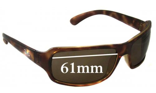Sunglass Fix Sunglass Replacement Lenses for Ray Ban RB4075 - 61mm Wide