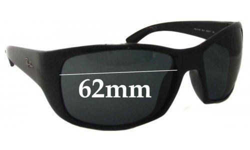 Sunglass Fix Sunglass Replacement Lenses for Ray Ban RB4149 - 62mm Wide
