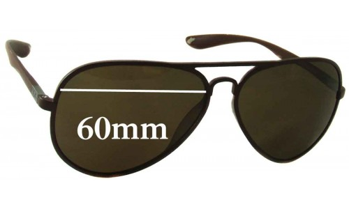 Sunglass Fix Sunglass Replacement Lenses for Ray Ban RB4180 - 60mm Wide
