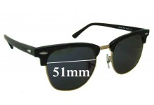 Sunglass Fix Sunglass Replacement Lenses for Ray Ban Clubmaster RB5154 - 51mm Wide x 42.5mm Tall * Please measure as there are multiple sizes *
