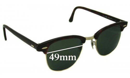 Sunglass Fix Sunglass Replacement Lenses for Ray Ban WO366 Bausch Lomb - 49mm wide
