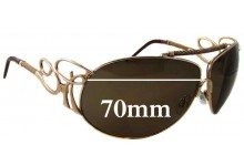 Sunglass Fix Sunglass Replacement Lenses for Roberto Cavalli Cameia 300S - 70mm Wide