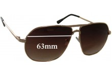Sunglass Fix Sunglass Replacement Lenses for Rorgge 6812 - 63mm Wide