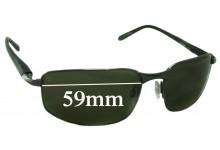 Sunglass Fix Sunglass Replacement Lenses for Serengeti Luigi - 59mm Wide