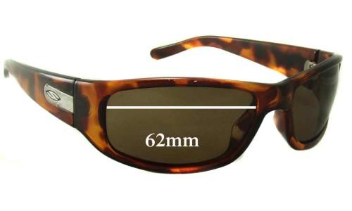 Sunglass Fix Sunglass Replacement Lenses for Smith Projekt - 62mm Wide