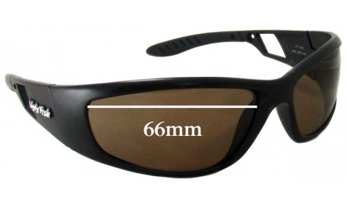 Sunglass Fix Sunglass Replacement Lenses for Ugly Fish PT606 - 66mm Wide