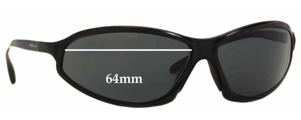 Sunglass Fix Replacement Lenses for Arnette AN3041 - 64mm Wide