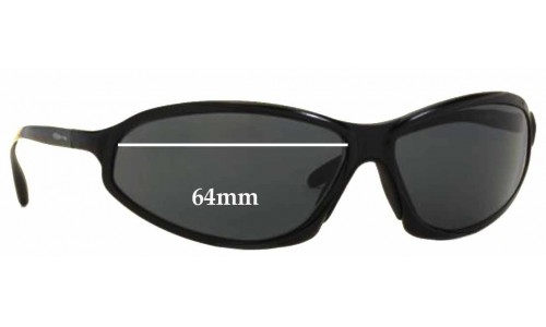 Sunglass Fix Sunglass Replacement Lenses for Arnette AN3041 Metal - 64mm wide