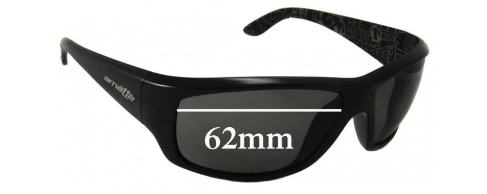 Sunglass Fix Sunglass Replacement Lenses for Arnette Cheat Sheet AN4166 - 62mm Wide