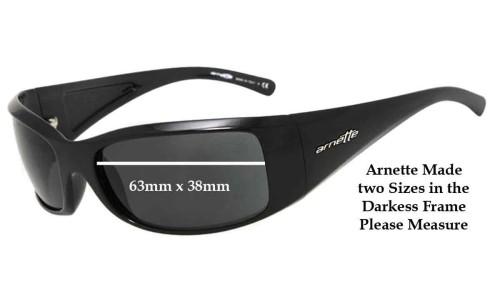 Sunglass Fix Sunglass Replacement Lenses for Arnette AN4121 Darkness New Style Post 2010 - 63mm wide X 38mm Tall