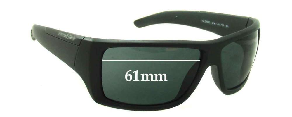 Sunglass Fix Sunglass Replacement Lenses for Arnette Hazard AN4167 - 61mm Wide