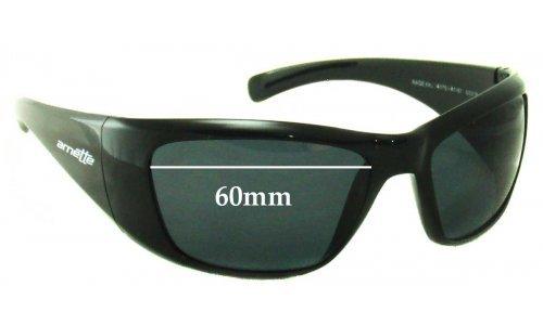 Sunglass Fix Sunglass Replacement Lenses for Arnette Rage XXL AN4175 - 60mm Wide