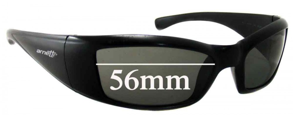 Sunglass Fix Replacement Lenses for Arnette RAJ1586AA - 56mm Wide
