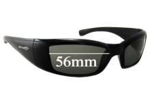 Sunglass Fix Sunglass Replacement Lenses for Arnette RAJ1586AA 56mm Wide