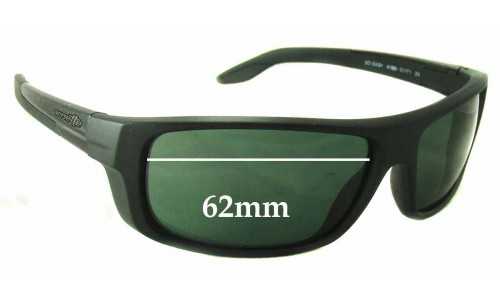 Sunglass Fix Sunglass Replacement Lenses for Arnette AN4159 So Easy - 62mm Wide