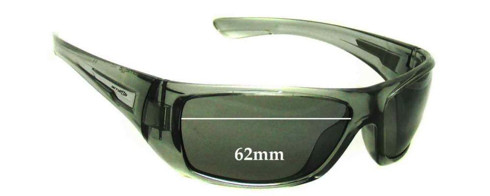 Sunglass Fix Sunglass Replacement Lenses for Arnette Stickup AN4147 - 62mm Wide