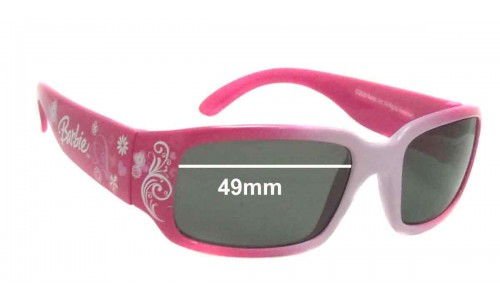 Sunglass Fix Sunglass Replacement Lenses for Matel Barbie 2008 - 49mm Wide