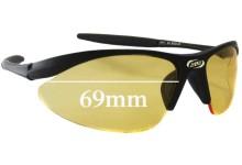Sunglass Fix Sunglass Replacement Lenses for BBB Element 4212 - 69mm Wide