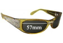Sunglass Fix Sunglass Replacement Lenses for Black Flys Sci Fly - 57mm Wide
