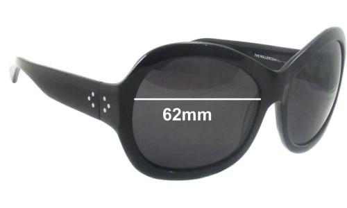 Sunglass Fix Sunglass Replacement Lenses for Blinde Rollercoaster - 62mm wide