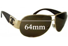 Sunglass Fix Sunglass Replacement Lenses for Chanel 4128 - 64mm Wide