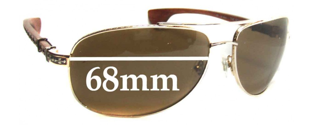 ce0f25cd77 Sunglass Fix Sunglass Replacement Lenses for Chrome Hearts The Beast II -  68mm wide