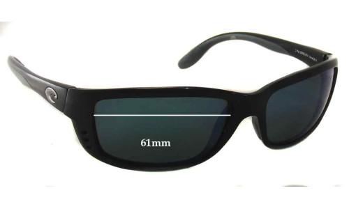 Sunglass Fix Sunglass Replacement Lenses for Costa Del Mar Zane - 61mm Wide